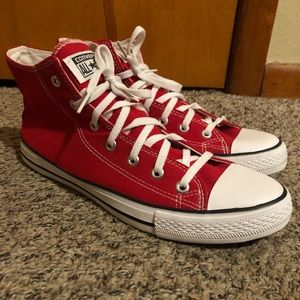 Red Size 10 Hightop Converse